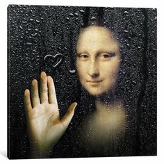 Mona Lisa Shower // Dot Pigeon One way to decorate your walls is with pieces to striking and evocative, something must be said about them. This collection of Conversation Starters are rendere Painting Frames, Painting Prints, Canvas Prints, Art Print, La Madone, Mona Lisa Parody, Mona Lisa Smile, Wassily Kandinsky Paintings, Photoshop