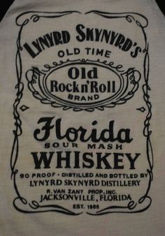 Vintage lynyrd skynyrd old time rock n roll band florida whiskey shirt xs Rock And Roll Bands, Rock Bands, Lynyrd Skynyrd T Shirt, Whisky, Old Rock, Rockn Roll, Kinds Of Music, Great Bands, Art Music