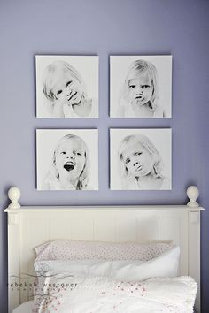 Similar pics, different expressions.  A fun way to display. -(photos by Rebecca Westover)