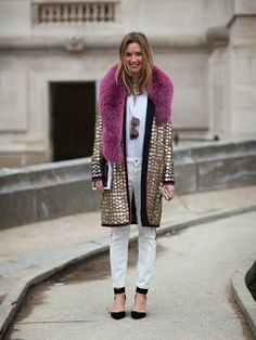 Sequinned coat