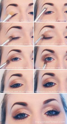 Makeup Tutorials for Blue Eyes -EVERYDAY NEUTRAL SMOKEY EYE TUTORIAL -Easy Step By Step Beginners Guide for Natural Simple Looks, Looks With Blonde Hair Colour and Fair Skin, Smokey Looks and Looks for Prom https://www.thegoddess.com/makeup-tutorials-blue-eyes #naturalmakeuptutorial