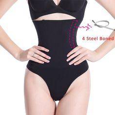 d245712c6b9 Women Shapewear High Waist Tummy Control Pants Body Shaper Seamless  Underwear Thong Panties Slimming Body Shaper
