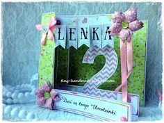 Kartka urodzinowa dla Lenki Handmade Birthday Cards, Handmade Cards, Frame, Decor, Craft Cards, Picture Frame, Decoration, Diy Birthday Cards, Decorating
