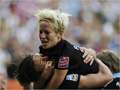 Megan Rapinoe, right, and Abby Wambach whooped it up after defeating Brazil in the quarterfinals. 2011 World Cup