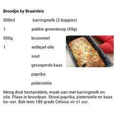Broodjie by braaivleis. Braai Recipes, Old Recipes, Baking Recipes, South African Dishes, South African Recipes, 100 Cookies Recipe, Cooking Measurements, Kos, Bread Bun