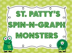 St Patty's Spn N Graph Monsters -  Pinned by @PediaStaff – Please Visit http://ht.ly/63sNt for all our pediatric therapy pins