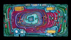 Hundertwasser 816 Switch Board mixed media Porquerolles, 1980