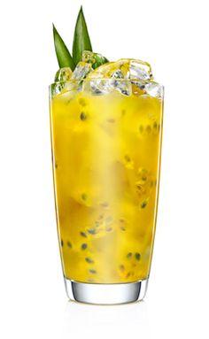 * LICK OF SUNSHINE * - 1 part MALIBU - 1 part Pressed Pineapple Juice - 1 Whole Pressed Passion Fruit (or half Lime) - Stir Malibu and pineapple on ice - then squeeze passion fruit or lime into glass, stir to mix. Garnish with passion fruit and wedge of pineapple.