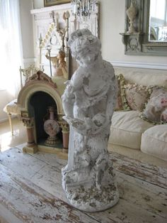 Chippy Old Garden Statues....dreamy Shabby Accents