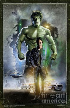 The Incredible HULK by Gerardo Moreno. This is AWESOME. Bill Bixby and Lou Ferrigno will always be The HULK for me anyways. Grew up watching and loving that show.