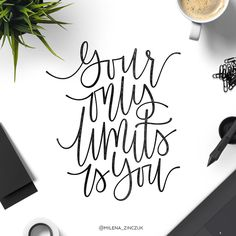 Your only limits is you  #type #typo #typelove #typespire #typetopia #typoholic #typedesign #typematters #typeeverything #typeoftheday #typography #handdrawn #handwriting #handmadefont #handdrawntype #goodtype #loveletters #ilovetypography #customtype #calligram #calligraphy #practice #picoftheday #instaart #thedailytype #dailytype #vector #modernscript #moderncalligraphy #instadaily