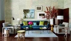 Resultado de imagen de turquoise velvet sofa
