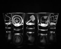 Hey, I found this really awesome Etsy listing at https://www.etsy.com/listing/229550464/the-avengers-shot-glasses-set-of-5-iron