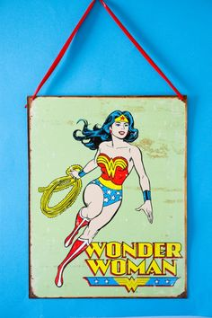 Wonder Woman tin sign find from antique store -- lucky!