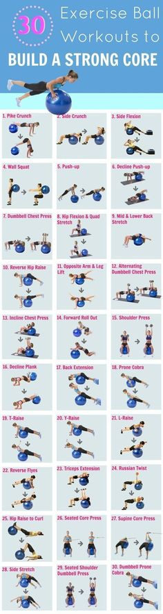 Exercise Ball Workout | Posted by: CustomWeightLossProgram.com