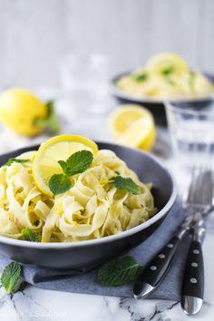Zitronen Tagliatelle mit Zitronensauce