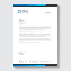 Business letterhead stationery Template Professional Letterhead, Letterhead Business, Business Card Design, Company Letterhead Template, Letterhead Design, Stationery Companies, Stationery Templates, Company Profile Design, Pad Design