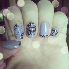 Lace nails.  Nail art :)
