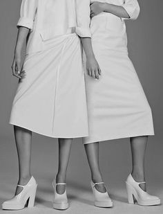 Chic minimalistic fashion, all white simplicity // Ph. Ben Weller for WSJ Spring 2014