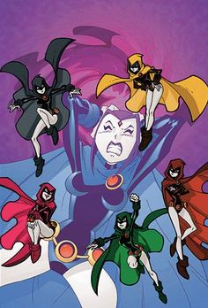 Teen Titans Go! Raven's going to pieces! Her multicolored Emoticlones have broken free and are on the run. How will the Teen Titans get all of them back together? Raven Teen Titans Go, Teen Titans Fanart, Deathstroke, Teen Titans Characters, Raven Beast Boy, Original Teen Titans, Desenhos Cartoon Network, Arte Dc Comics, Comic Character