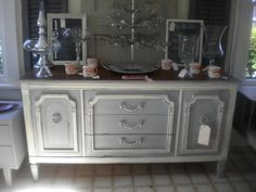 Today's furniture transformation comes from Susan. She found this beautiful buffet at out local Goodwill. She knew this one was a per...