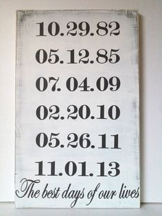 Important Dates Handpainted Wooden Sign Birthday by TheEllison, $38.00