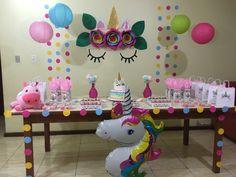 How to Make DIY Birthday Party Decorations for Girls – Unicorn Backdrops 10th Birthday Parties, Diy Birthday, Birthday Party Decorations Diy, Party Themes, Diy Unicorn Party, Party Gifts, Backdrop Decor, Nara, Balloon