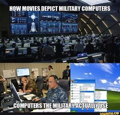 At least it's not a CRT monitor and that would be the govt. Navy Memes, Navy Humor, Military Jokes, Military Life, Wit And Wisdom, Army Life, American Spirit, Daily Funny, Funny Jokes