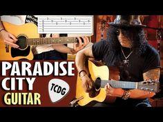 Paradise City (Guns N´ Roses) | Tutorial Fácil Con Tablatura Para Guitarra Acústica TCDG - YouTube