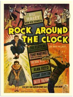 Rock Around The Clock, Bill Haley, Movie Poster 1950s (30x40cm Art Print) by VINMAG, http://www.amazon.co.uk/dp/B001VC4TJY/ref=cm_sw_r_pi_dp_rTmHsb13N81KZ