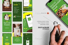 Podcast Instagram Stories & Post by rivatxfz Instagram Design, Instagram Story, Company Presentation, Themes Free, Editing Pictures, Ig Story, Banner Template, Keynote Template, Design Bundles