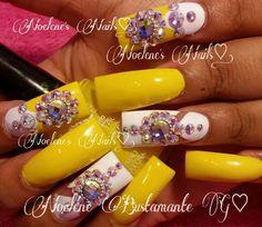 Pɪɴᴛᴇʀᴇsᴛ: Kᴇᴋᴇ_Bʟᴀsɪᴀɴ Bᴀʀʙɪᴇ Yellow Swarovski Nails