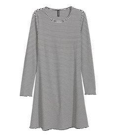 Jersey Dress | Black/white striped | Ladies | H&M US