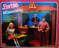 Oh my goodness!! I remember my Barbie Loves McDonald's!! I loved it so much! I bet it's still somewhere in my parents' attic. Wish I could find it. Lol