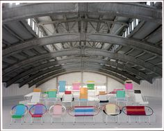 Bright and colourful chairs from Marni.