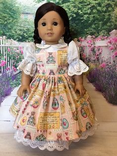 Easter Jumper fits American Girl Doll and 18 inch dolls by WeeWhimzyWardrobe on Etsy