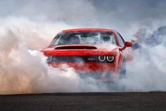 Possessing a spirited design inspired by muscle cars of the the Dodge Challenger SRT Demon is frightfully fun behind the wheel. Chevrolet Camaro, Camaro Ss, Chevy Silverado, Demon Car, Red Sports Car, Sport Cars, New Dodge, Dodge Challenger Srt Hellcat, Car Backgrounds