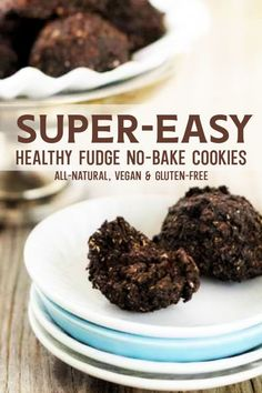 These fudge no-bake cookies are SO EASY! Make them right in your food processor or blender for a quick, simple, DELICIOUS treat! #vegan #gluten #dairy #free #clean #natural #easy #no #bake #cook #blender #food #processor #fudge #chocolate #cocoa #date #cookies #oats #oatmeal #healthy #cookie #snack #allergy #diet