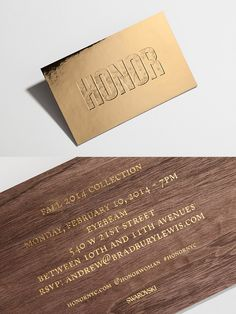 High Tide Creates A Stunning Golden Invitation for Women's Luxury Brand, Honor