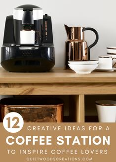 For many of us, a fresh cup of coffee is a morning must, but the clutter and mess that come with are not! So if you're a coffee lover like us, it may be time to add a coffee station to your home. #coffeestation #coffeelover #kitchendecor Decaf Coffee, V60 Coffee, Coffee Cups, Kids Bedroom Designs, Custom Wooden Signs, Wood Creations, Home Trends, Decorating Blogs, Clutter