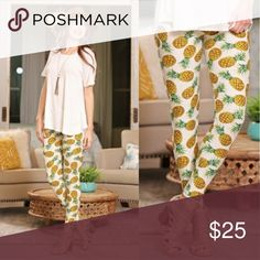 NWT PINEAPPLE EXPRESS LEGGINGS 92% polyester 8% spandex. These are One size (Fits size 2-12 comfortably) Infinity Raine Pants Leggings