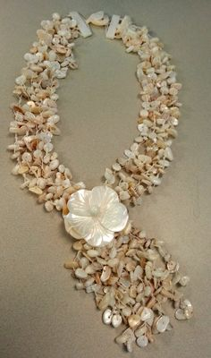 Womens Hawaiian Lei style Shell Necklace by EsquivelDesigns, $45.00