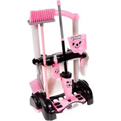 This Casdon Hetty Cleaning Trolley is an amazing set that includes Hetty-branded mop with cloth, broom, brush, dust pan, bottle and waste bag. Little Girl Toys, Toys For Girls, Little Girls, Baby Girl Toys, Baby Doll Nursery, Baby Dolls, Baby Doll Strollers, Barbie Doll Set, Dustpans And Brushes
