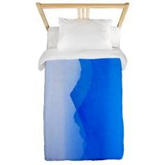 Abstract watercolor texture ombre Twin Duvet> Abstract watercolor texture in blue ombre> Victory Ink Tshirts and Gifts