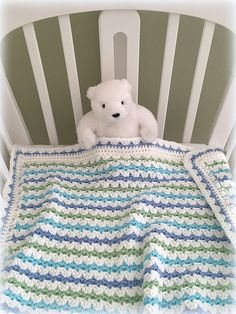 Sweet, simple and easy to make crochet baby blanket.