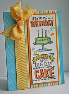 Created by Wendy: Happy Birthday! Stampin Up BIG DAY Sell-a-bration