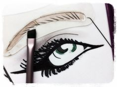 Step 1    Select your chosen eyebrow stencil that defines you by placing over your brows.