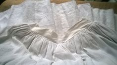Long Extra Wide Peasant Skirt White Cotton by SophieLadyDeParis