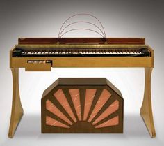Ondes Martenot ~ early stand model with a one membrane Martenot Speaker, 1928 ~ modulation stick in the lefthand drawer and steel ring on a wire for gliding the scales with the right hand #electronicmusic #synthesizer #instruments #electroacoustic #sound #synthesis