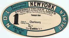 Unused Luggage Tag from 1901